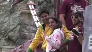 getlinkyoutube.com-Couple Bungee Jump - Ganesh & Nisha !!