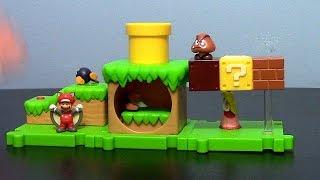 getlinkyoutube.com-JAKKS Pacific Super Mario Acorn Plains Micro Land Playset (w/ Squirrel Mario) Toy Review
