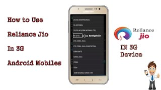 How To Use Reliance Jio Sim In 3G Phone Without Root 2017