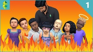 getlinkyoutube.com-The Sims 4 - SEVEN Toddler Challenge - Part 1