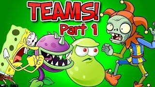 getlinkyoutube.com-Plants vs. Zombies 2 JESTER ZOMBIE vs Team Plants PART 1 ✔
