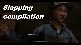 getlinkyoutube.com-Clementine and Sarah slapping compilation. The Walking Dead game