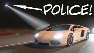 Lambo-Caught-by-Police-Chopper-While-STREET-RACING width=