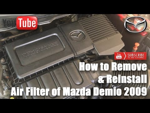 How to Remove & Reinstall Air Filter of Mazda Demio (Mazda 2) 2009