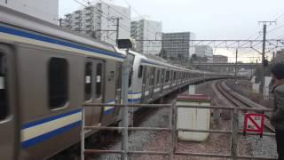 【30両編成】横須賀線救援列車 東戸塚駅通過 (2014年12月25日 14時25分頃)
