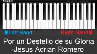 Como Tocar Un Destello De Su Gloria Por Jesus Adrian Romero En Piano Tutoriales Espaol
