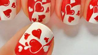 getlinkyoutube.com-JUST HEARTS nail art by LuvableNails