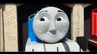 getlinkyoutube.com-Giant Thomas and Friends t Percy James Gordon Emily at Life Size Tidmouth Shed