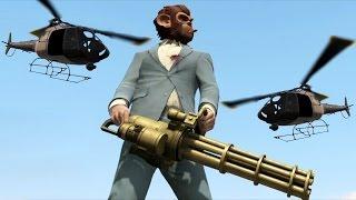 getlinkyoutube.com-GTA V Fun With Cheats Vs 5 Star Military Base