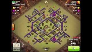 getlinkyoutube.com-Clan Wars Ep 3 - TH8 Anti Air Anti Hog Base Defense: Attacked by TH 9 and TH 10!