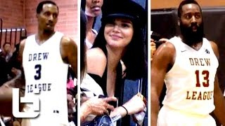 Drew League highlights of James Harden, Brandon Jennings and Nick Young p