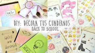 10 IDEAS PARA DECORAR TUS CUADERNOS ♡ Decorate your notebook ♡