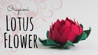 getlinkyoutube.com-How to make an origami Lotus Flower.