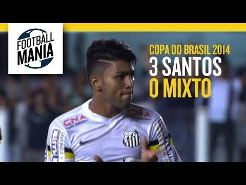Santos (SP) X Mixto (MT) 3-0 Copa do Brasil 2014 - First Round