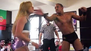 getlinkyoutube.com-[Free Match] #TFT316: Kimber Bombs vs. Crusade For Change - Beyond Wrestling (Intergender, Mixed)