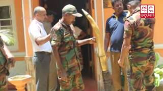 Elephant tusks seized from house of a Basnayaka Nilame in Kandy