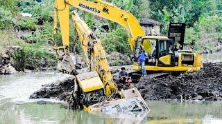 getlinkyoutube.com-Excavator Accident Heavy Recovery Komatsu PC200