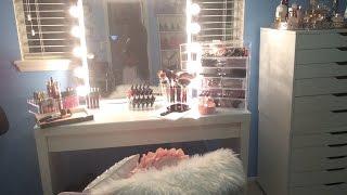 getlinkyoutube.com-DIY VANITY GIRL INSPIRED MIRROR 2015 - QUICK & EASY ⎮MAKEUP TABLE 2015