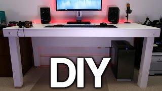 getlinkyoutube.com-Building a Custom PC Desk! (No Visible Cables)