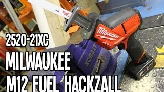 getlinkyoutube.com-Milwaukee M12 FUEL 2520-21XC Hackzall Recip Saw