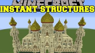 getlinkyoutube.com-Minecraft: INSTANT STRUCTURES (EPIC PALACE, BETTER HOUSES, UNIQUE STRUCTURES, & MORE!) Mod Showcase