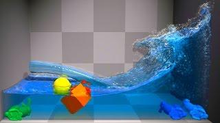 getlinkyoutube.com-NVIDIA PhysX FleX v0.25 【Tech Demo】 i7 4770K GTX 780Ti 【1080p 60 Fps】
