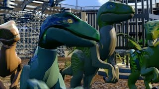 getlinkyoutube.com-LEGO Jurassic World Game - Dinosaur Gameplay Trailer