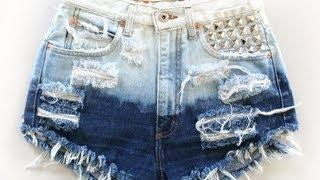 getlinkyoutube.com-COMO DESFIAR JEANS MAIS FÁCIL E RÁPIDO/ How to make destroyed jeans