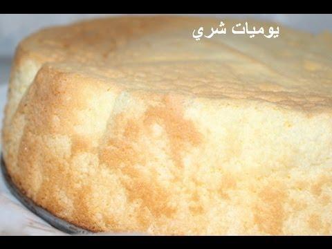يوميات شري طريقة عمل اسبونج كيك او الكيكة الاسفنجية بطريقة سهله سيطه
