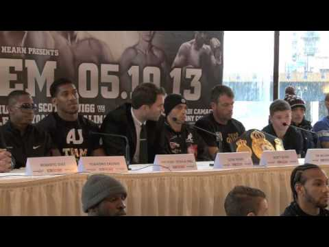 CARPE DIEM -FULL PRESS CONFERENCE - FEATURING ANTHONY JOSHUA / SCOTT QUIGG v YOANDRIS SALINAS