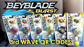 Beyblade Burst Hasbro QR Codes 3rd Wave Part 1 for Beyblade Burst Hasbro App Feb 25th