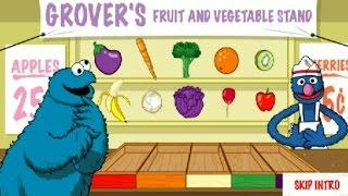 getlinkyoutube.com-Sesame Street Cookie Monster Eats Grover's Fruit And Vegetable Stand