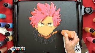 getlinkyoutube.com-Natsu (Fairy Tail) Pancake Art