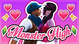 getlinkyoutube.com-The Sims 4: Monster High (Part 4) // ♥ First Kiss ♥