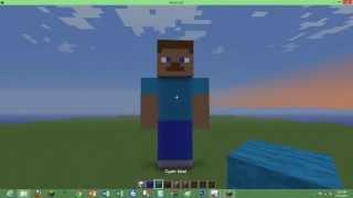 getlinkyoutube.com-how to build a minecraft steve statue