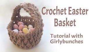 Crochet Easter Basket Miniature Gift Basket Tutorial   Girlybunches