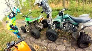 getlinkyoutube.com-ATV Crash at high speed // Four quads and full throttle