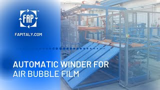 Automatic winding machine for bubble film