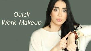 getlinkyoutube.com-Running late, Quick Makeup for Work -  مكياج سريع للعمل