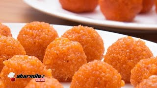 getlinkyoutube.com-Perfect Motichur Laddu Recipe | Halwai Style | Indian Popular Sweet |  Sharmilazkitchen