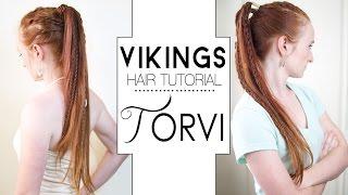 getlinkyoutube.com-Vikings Hair Tutorial - Torvi Braided Ponytails