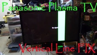 getlinkyoutube.com-Panasonic Plasma TV TC-P50X5 Vertical Green Bar Line Fix