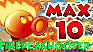 getlinkyoutube.com-Plants vs Zombies 2 Max Level UP - Firepeashooter @ Level 10 Maximum Level