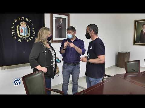 Presentación del reto solidario a nado La Línea-Estepona