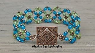 getlinkyoutube.com-Crossing Paths Beaded Bracelet Tutorial