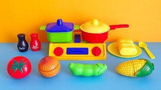 getlinkyoutube.com-Soup Cooking Kitchen Playset - Toy cutting vegetables cooking toy for children