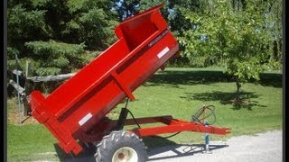 Berkelmans Welding 2 ton farm dump trailers