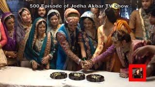 getlinkyoutube.com-Jodha Akbar 500 episode cake cutting