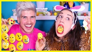 getlinkyoutube.com-EMOJI EASTER EGG DIY W/ MIRANDA SINGS!