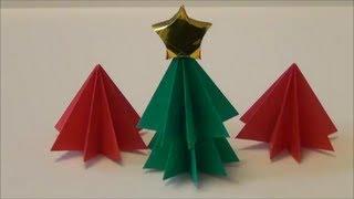 "getlinkyoutube.com-簡単「クリスマスツリー」折り紙Easy ""Christmas tree"" origami"
